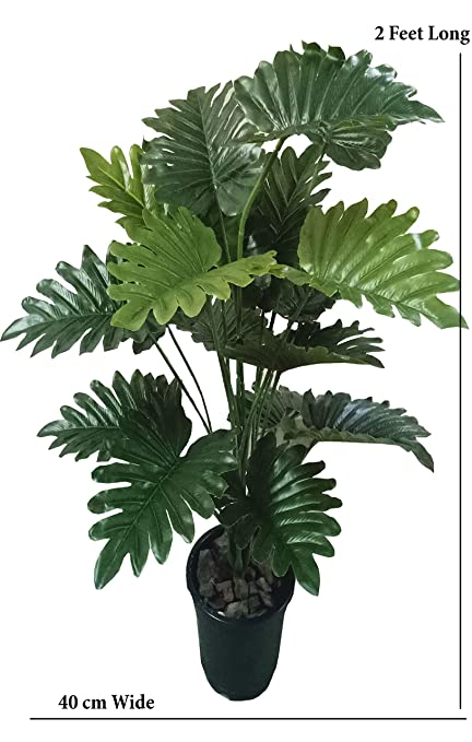 NMagic Creations Artificial Tree Plant Large Green 18 Beautiful Leaves Natural Real Looking