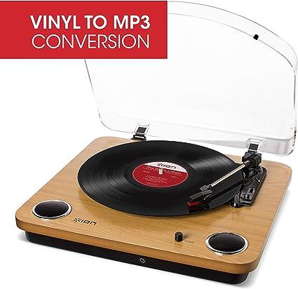 Amazon.com: Ion Audio Max LP Placa giratoria de madera de 3 ...