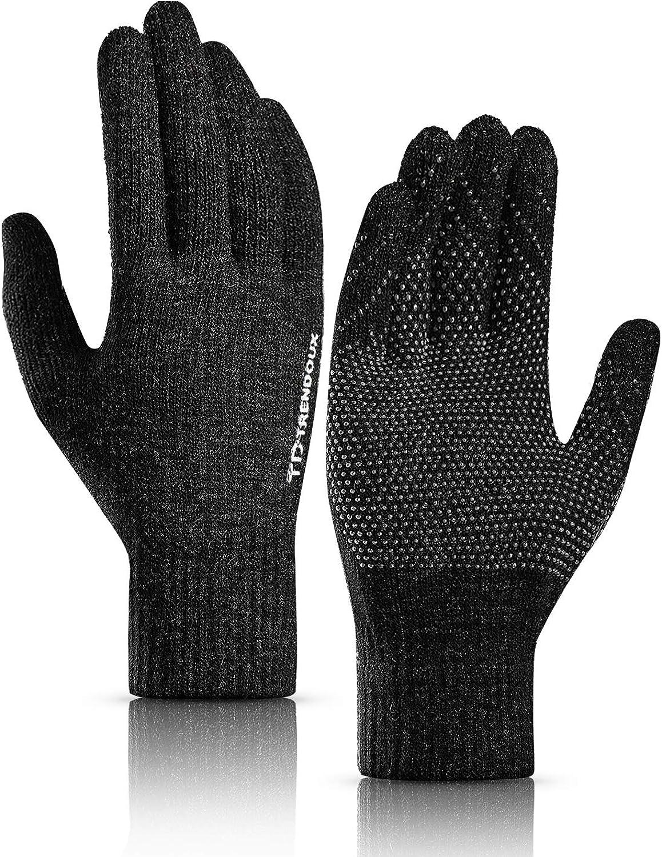 t/érmicos con pantalla t/áctil antideslizantes Guantes de invierno para hombre y mujer material el/ástico Trend Doux