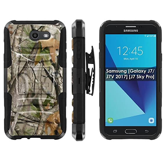 online store e66b6 e980c Galaxy J7 [2017] Defender Cover [ArmorXtreme] [Black/Black] Heavy Duty  Warrior [Holster] [Kick Stand] - [Tree Camo] for Samsung [Galaxy J7/J7V  2017] ...