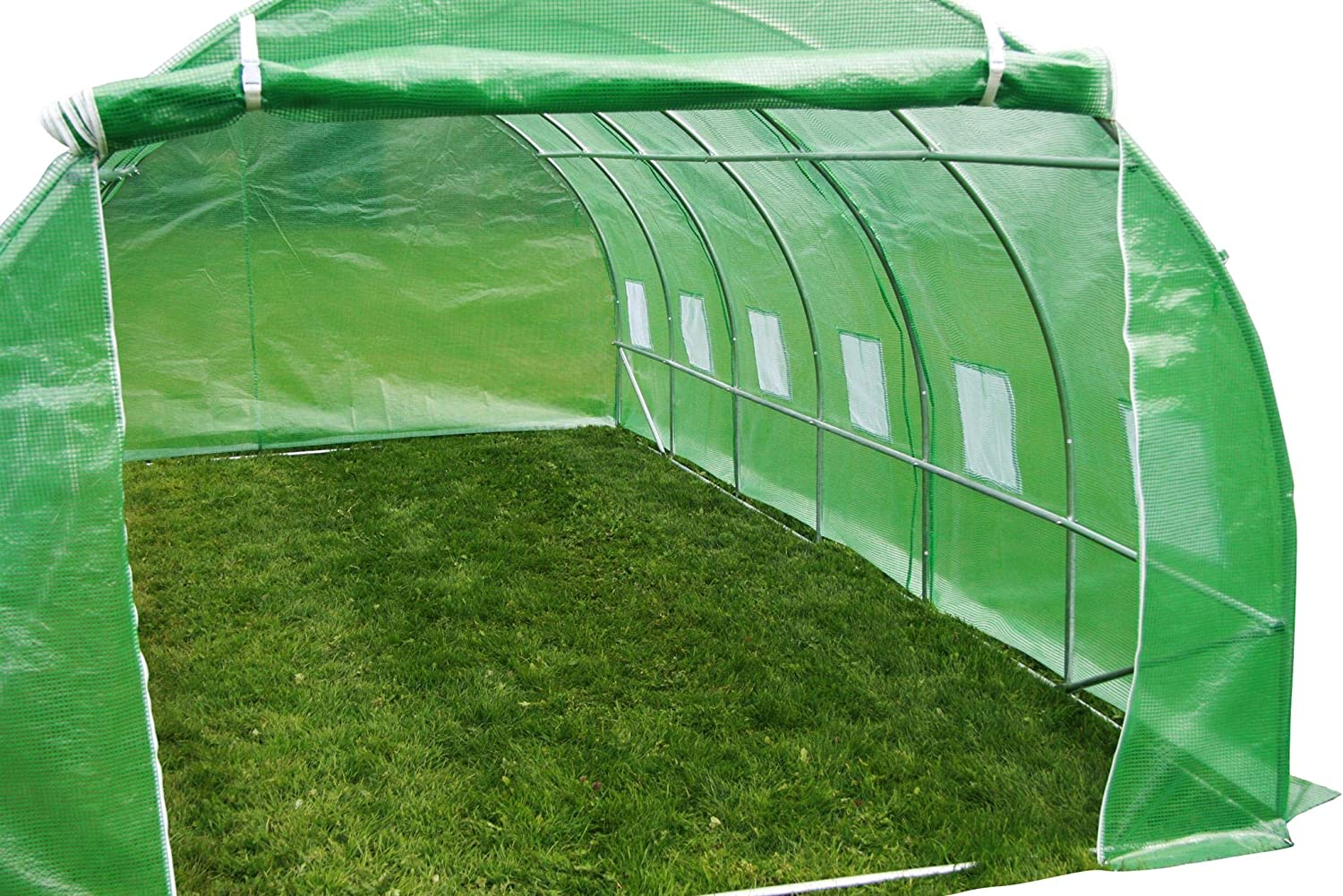 6m X 3m Polytunnel Greenhouse Strongest In Its Class A Fully