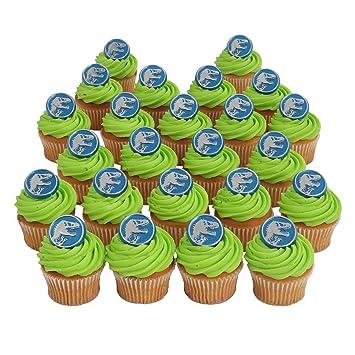 Jurassic World Officially Licensed 24 Cupcake Topper Rings
