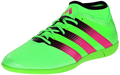 online store 1c1e6 244f1 adidas Performance Men s Ace 16.3 Primesh Indoor Soccer Shoe,Shock Green Shock  Pink
