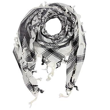 b87a00371a2 Freak Scene® Foulard palestinien keffieh en coton - motifs tête de mort n°