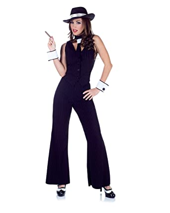 9c465404b27 Amazon.com  Underwraps Costumes Women s Gangster Costume - Bugsy  Clothing