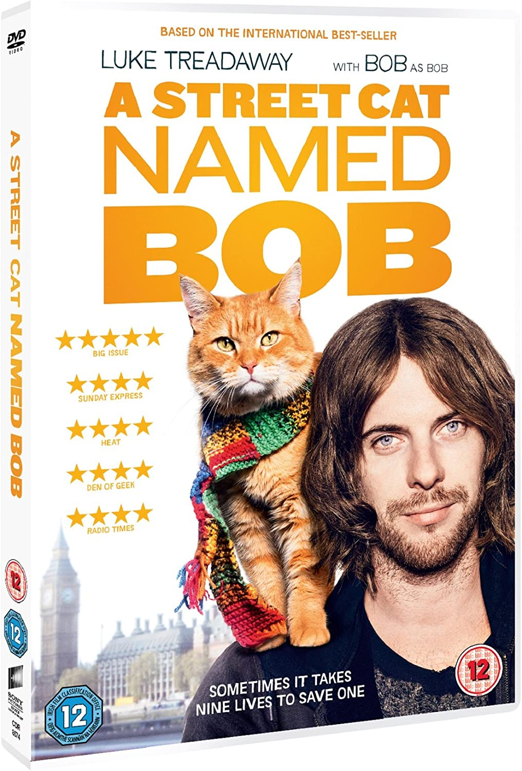 A Street Cat Named Bob Dvd 2016 Amazon Co Uk Luke Treadaway Ruth Gedmintas Joanne Froggatt Roger Spottiswoode Luke Treadaway Ruth Gedmintas Dvd Blu Ray
