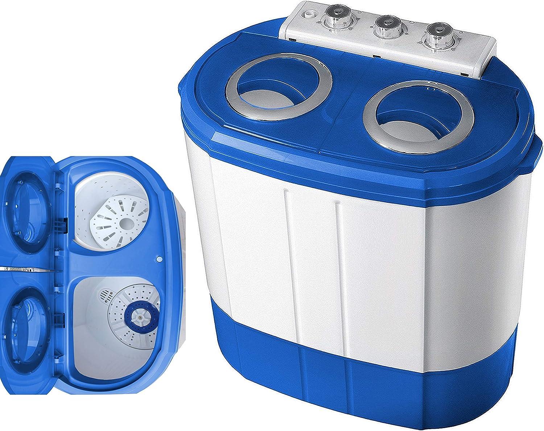 Minilavadora   lavadora de camping   lavadora   lavadora de viaje   minilavadora   lavadora móvil   lavadora pequeña   carga superior   función de centrifugado   función de seguridad   hasta 3kg, 580W máximo  : Amazon.es: Grandes electrodomésticos