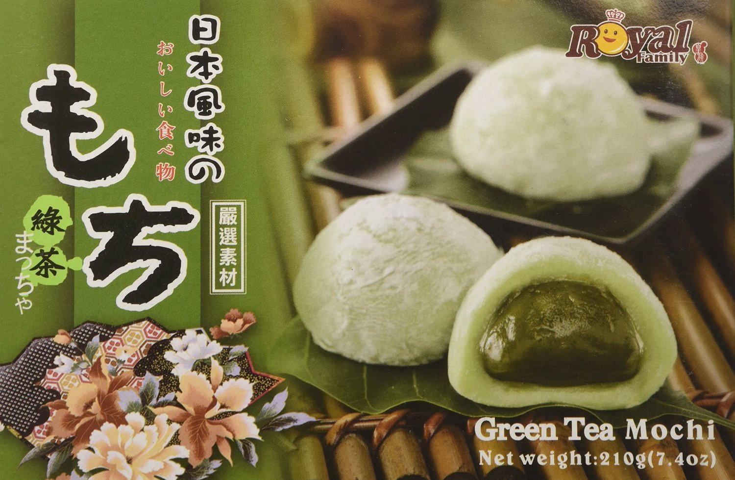 Royal Family Japanese Style Green Tea Mochi 7.4 ounce (2 Pack)