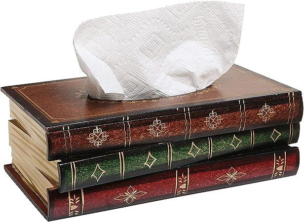 Caja de Pañuelos Caja de Madera para Toallas de Papel para Decoración Hogar y Oficina, Rojo, 25x14x10 cm: Amazon.es: Hogar