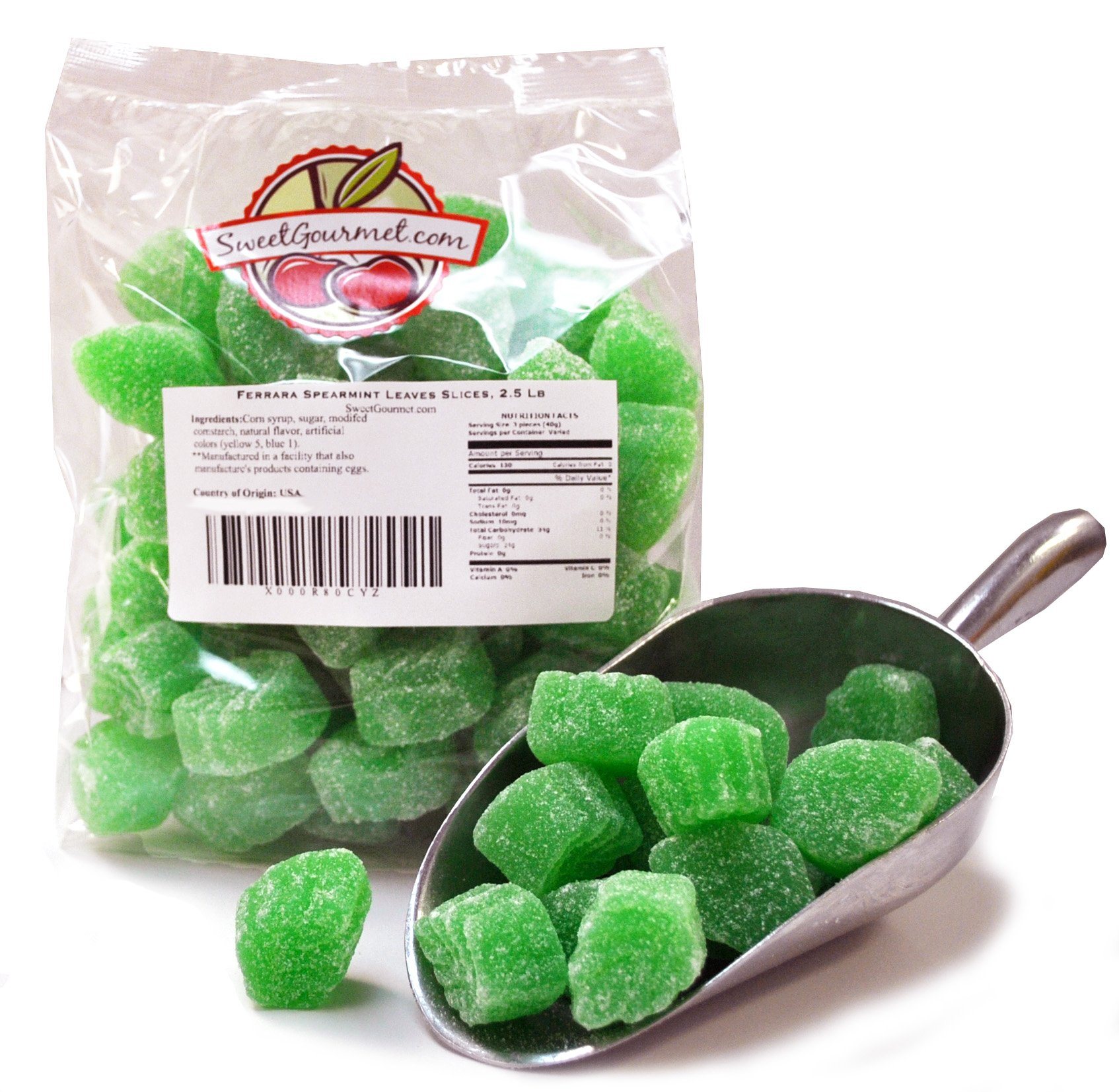 Ferrara Candy Spearmint Leaves jelly candy (2.5Lb)