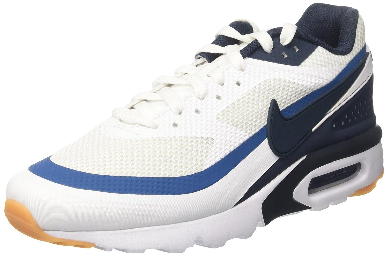 Nike Herren Air Max BW Ultra Trainer, Blau/Weiszlig;  42.5 EU|Elfenbein (White/Armory Navy/Industrial Blue)