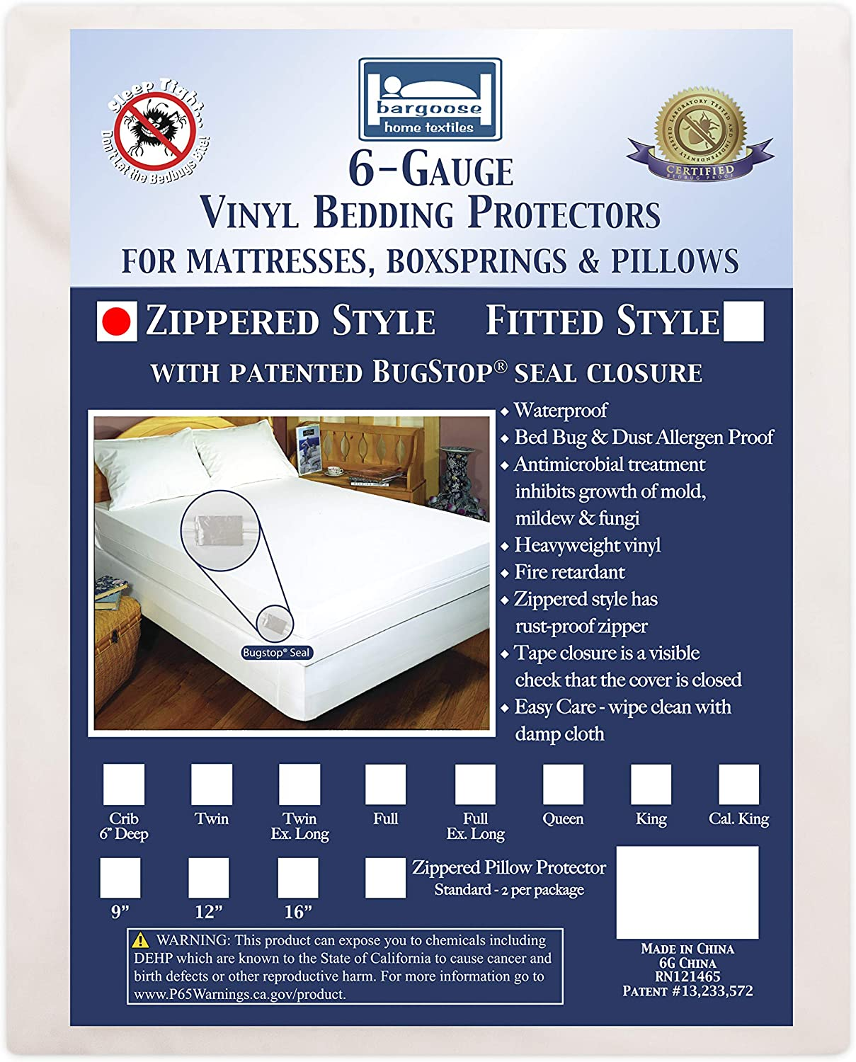 ALL SIZE VINYL Allergen Safe Quality Protector Bed Bug Proof MATTRESS COVERS