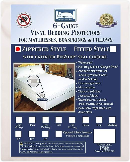 Box Spring Encasement Bed Bug Proof Waterproof Zippered Cover Lot Utopia Bedding
