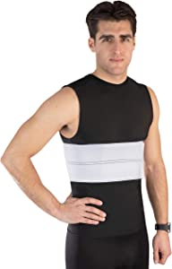 "NYOrtho Elastic Rib Support Belt - Torso Compression Binder Brace for Men and Women |Helps for Bruised Fractured Broken Ribs (Male - Fits 20""-30"" Chest)"