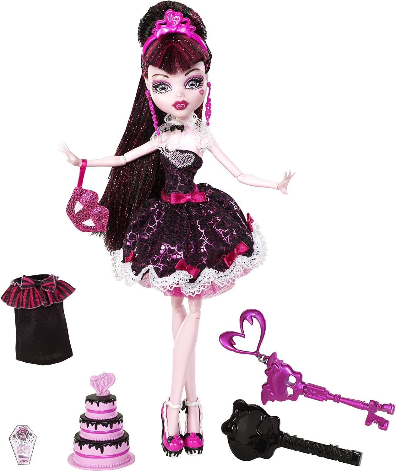 Excellent Amazon Com Monster High Sweet 1600 Draculaura Doll Toys Games Funny Birthday Cards Online Hendilapandamsfinfo