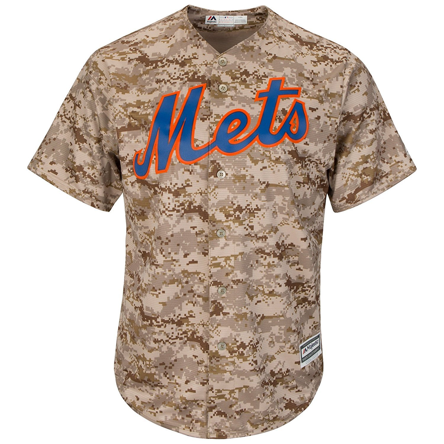 Outerstuff New York Mets Blank Camo Youth Cool Base Fashion Replica Jersey