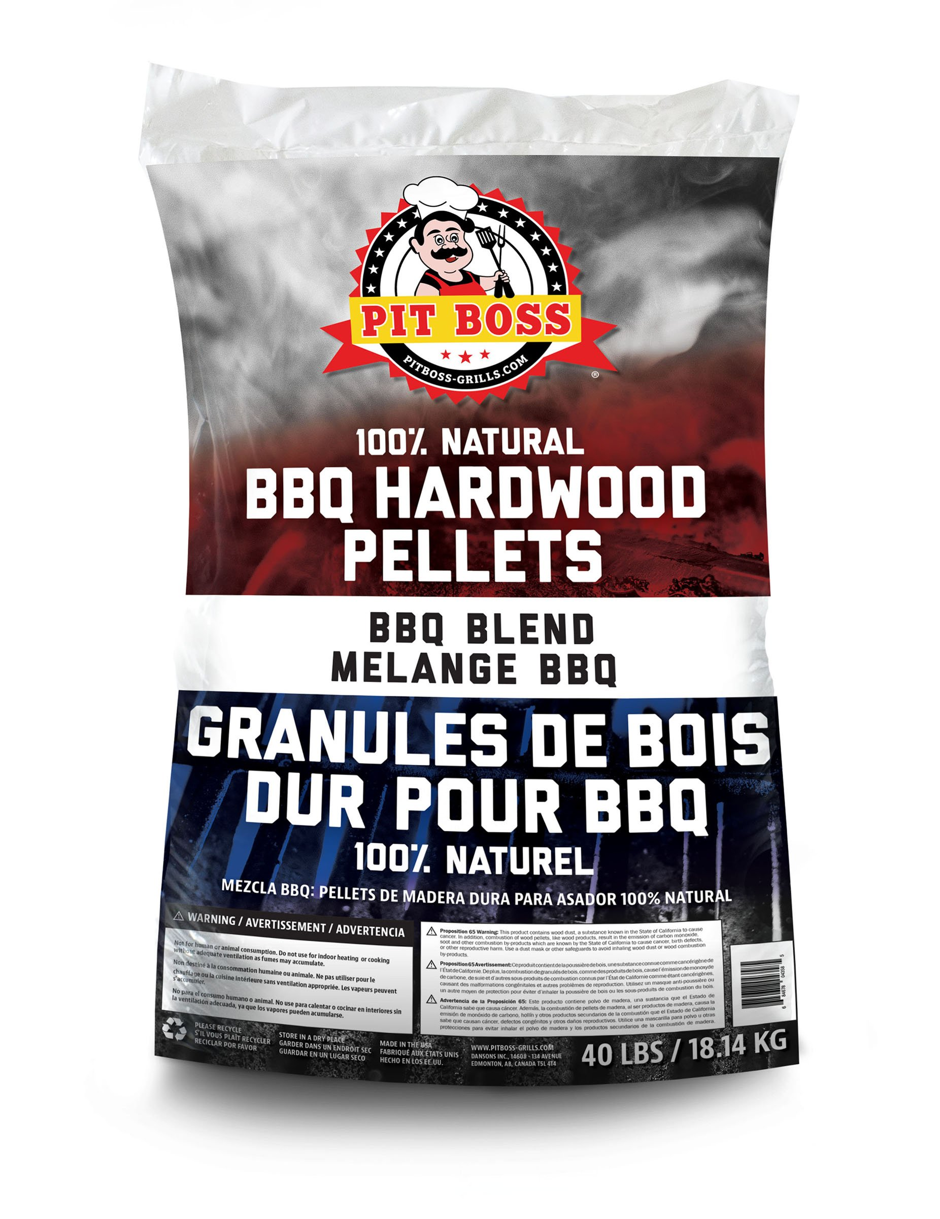 Pit Boss BBQ Wood Pellets, 40 lb, BBQ Blend