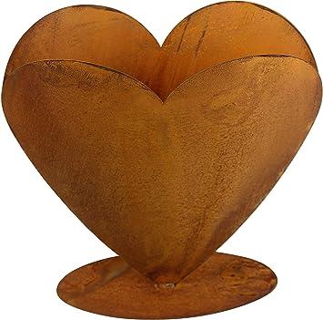 Herz aus Edelrost zum Bepflanzen groß