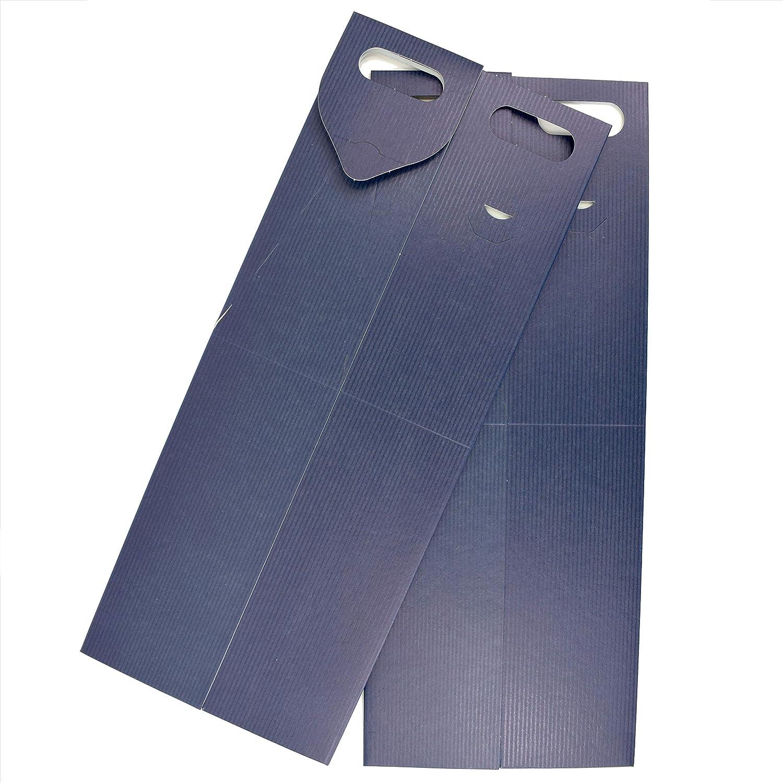 Duhalle 170 Lot de 2 /étuis Carton pour Bouteille de vin 40 x 8,2 cm Bleu