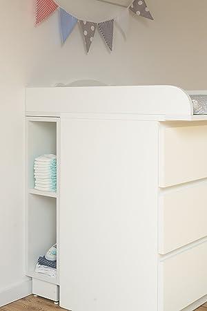 Incroyable KraftKids Étagère De Rangement Pour Table à Langer, Compatible Avec Les Commodes  Malm, Blanc