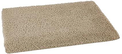 Amazon Brand - Solimo Premium Anti-Slip Microfibre Bathmat - 60cm x 40cm, Light Taupe