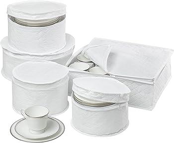 Honey-Can-Do 5-Piece Dinnerware Storage Set