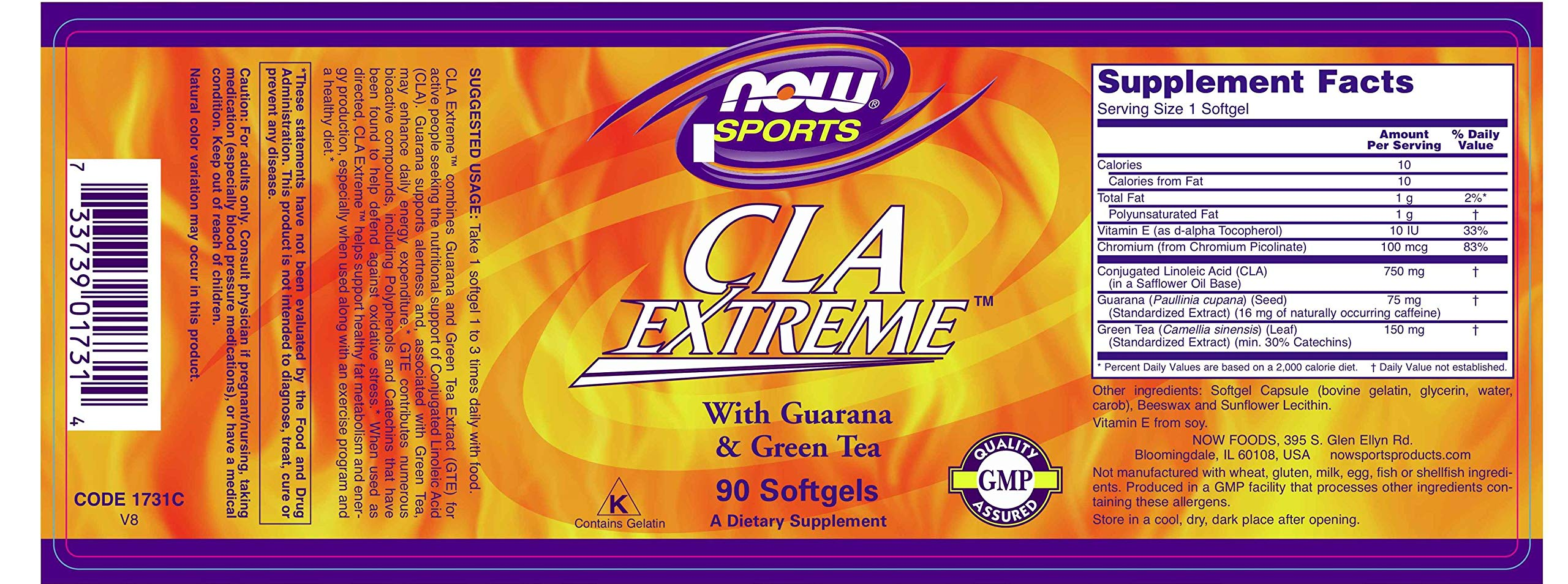 NOW® Sports CLA Extreme, 90 Softgels by NOW (Image #2)