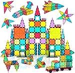 Jasonwell 108pcs Magnetic Blocks Kids Magnetic Tile Building Blocks Set 3D