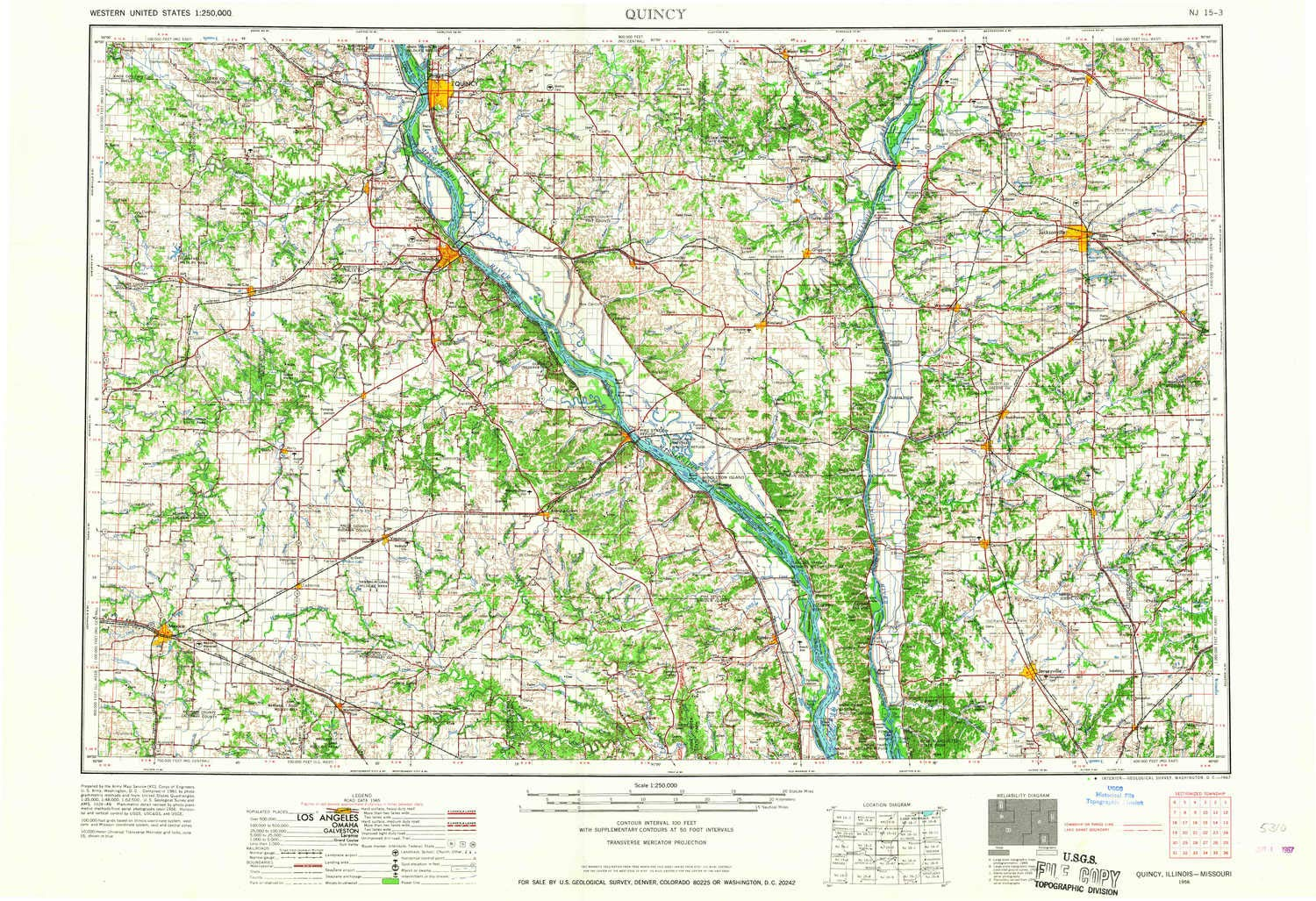 Amazon Com Yellowmaps Quincy Il Topo Map 1 250000 Scale 1 X 2