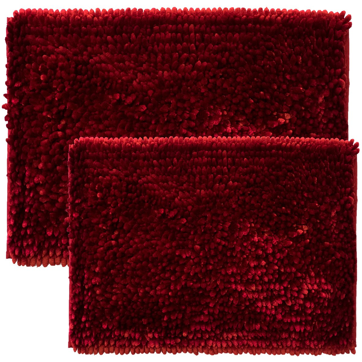 Sweet Home Collection Bath Set 2 Piece Butter Chenille Noodle Soft Luxurious Rugs Absorbent Non Slip Latex Back Microfiber Bathroom Mat 1 17 X 24 1 20 X 32 Burgundy Red Industrial Scientific Amazon Com