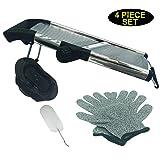 Stainless Steel Mandoline Slicer Vegetable Julienne Slicer Adjustable Multi Function Comes with Gloves and Safety Guard