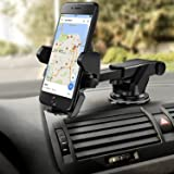 Die Hard Easy Shopping Days Long Neck 360° Rotation with Ultimate Reusable Suction Cup Mobile Holder/Mount for Car Dashboard/Windshield/Desktop (Black)