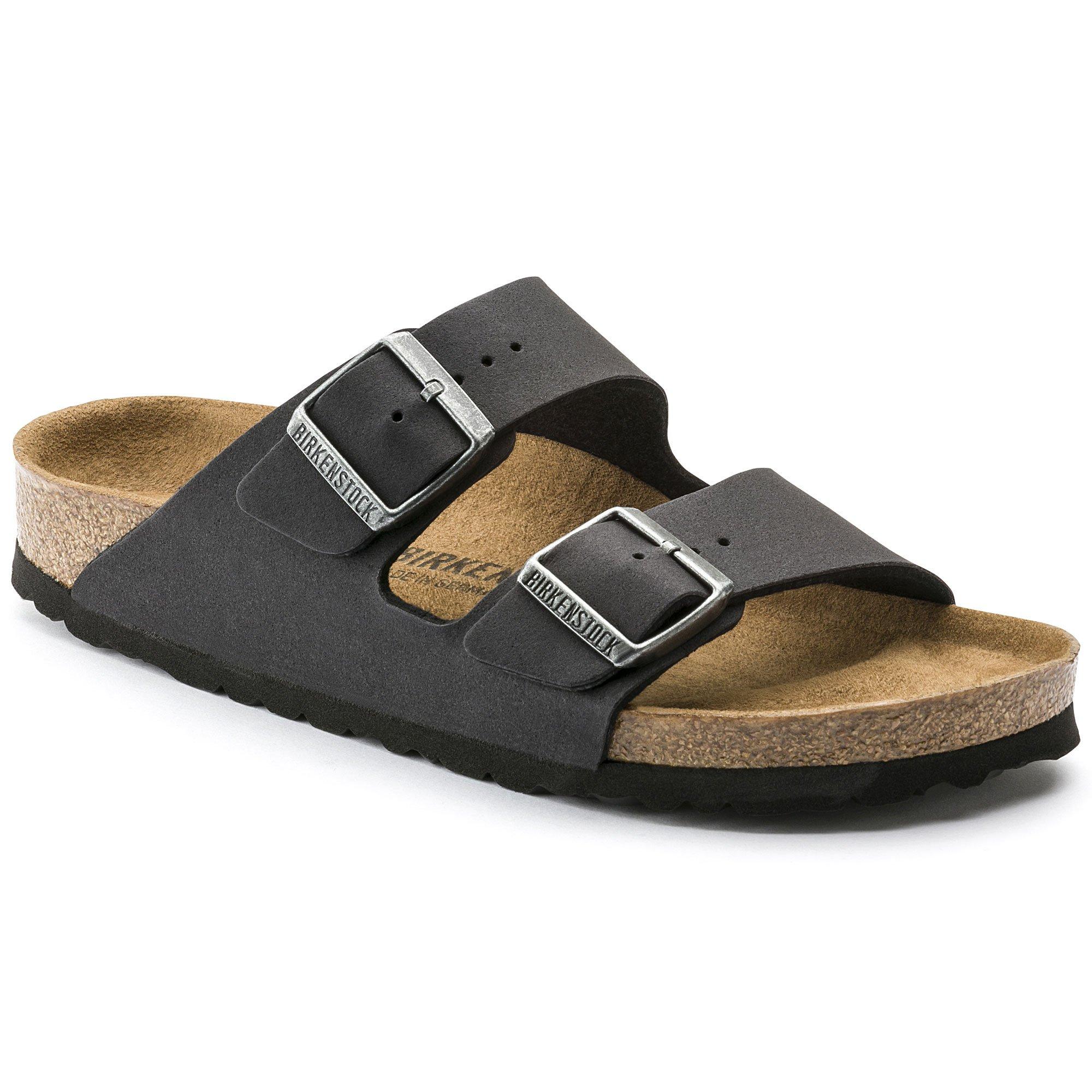 Birkenstock Women's Arizona  Birko-Flo Anthracite Sandals - 44 N EU