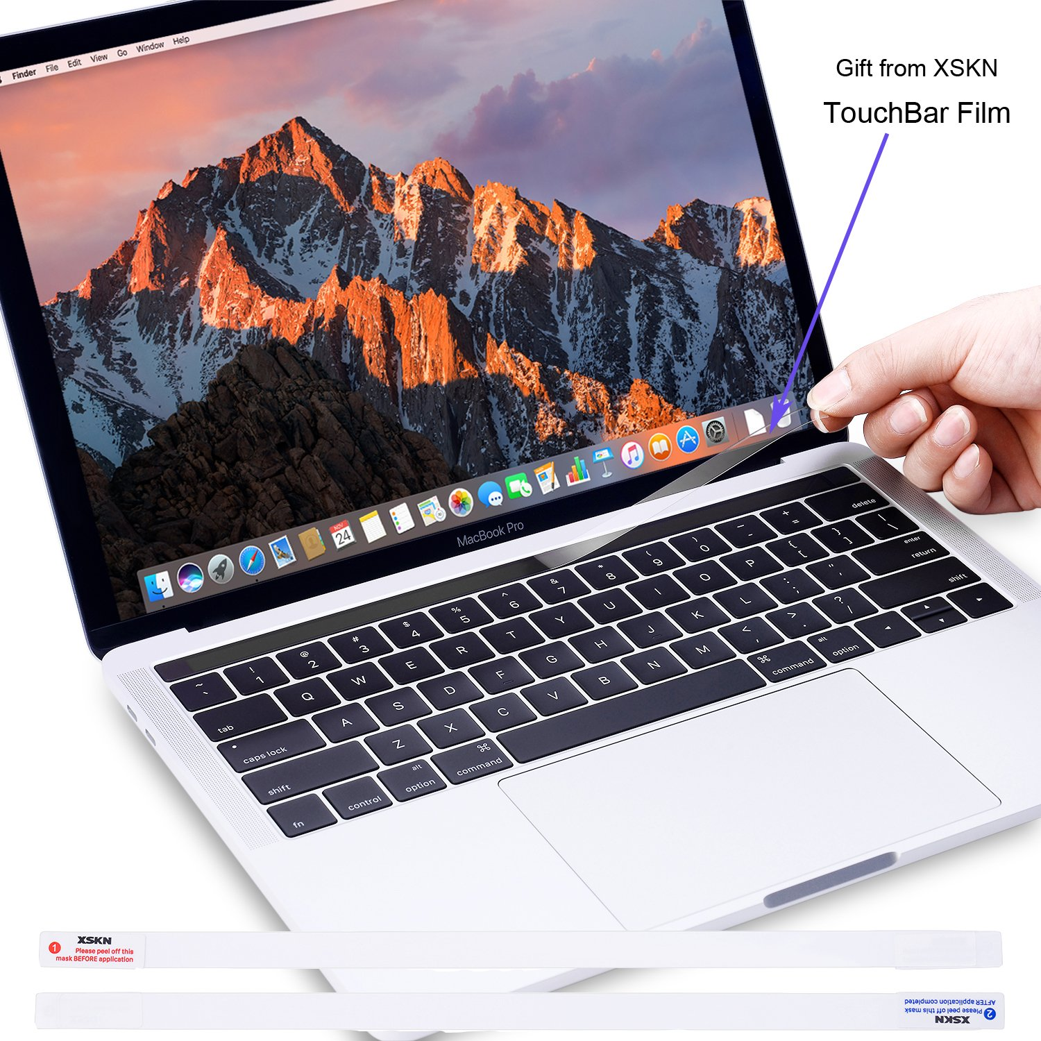 Trackpad Set with Palmrest XSKN 4 in 1 Ultra Thin Full Body