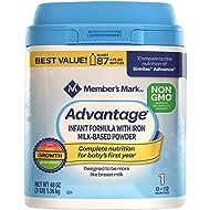 Member's Mark Non-GMO Infant Formula, Advantage (48 oz.)