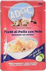 ADOC Naturale Pollo e Mela per gatti adulti, confezione da 30 pezzi