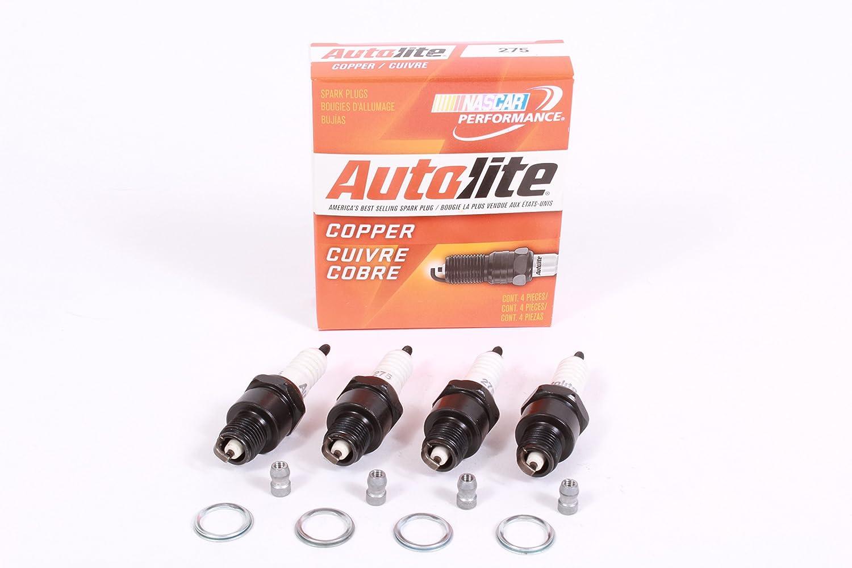 Autolite 275 - Caja de 4 bujías de cobre sin resistencia: Amazon.es: Hogar