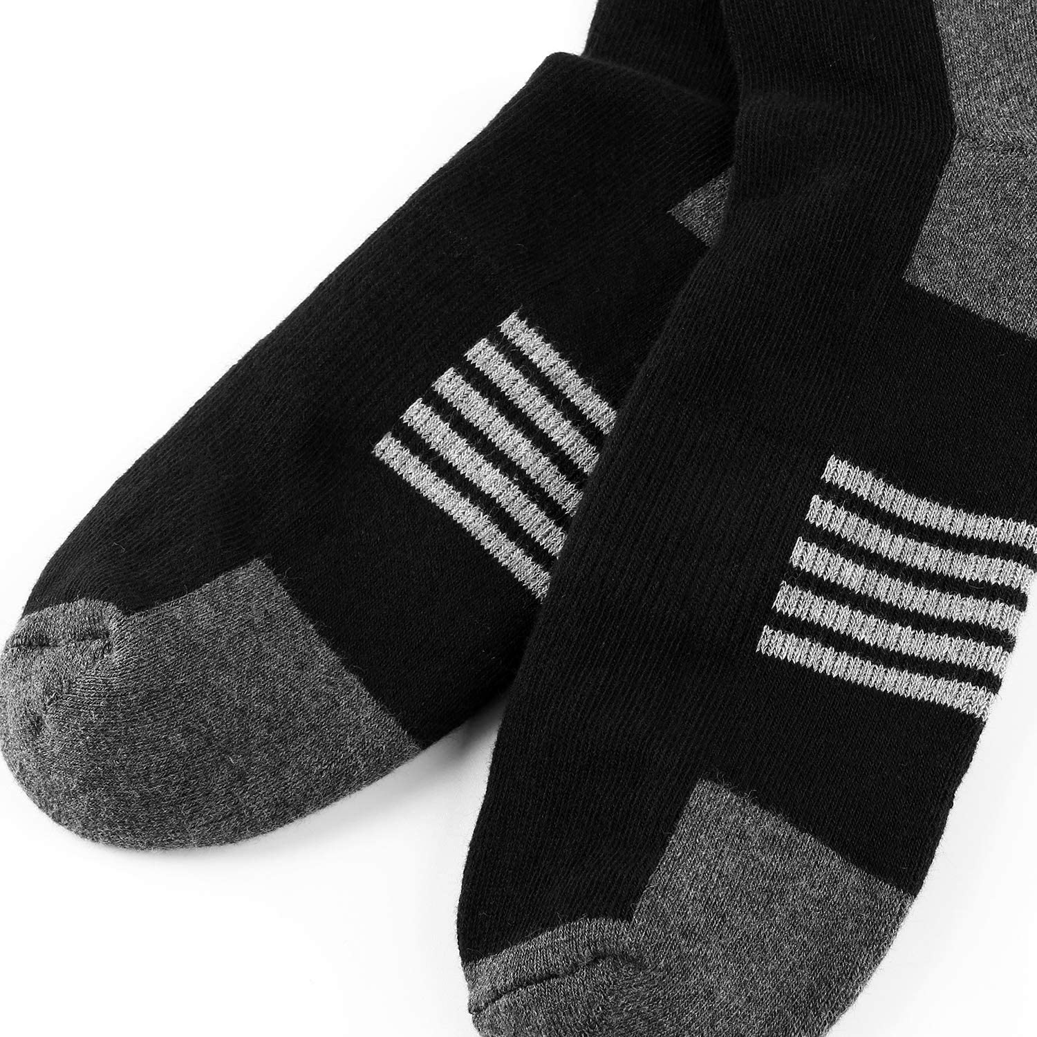 Ueither Mens Comfortable Cotton Cushioned Performance Crew Socks 6 Packs