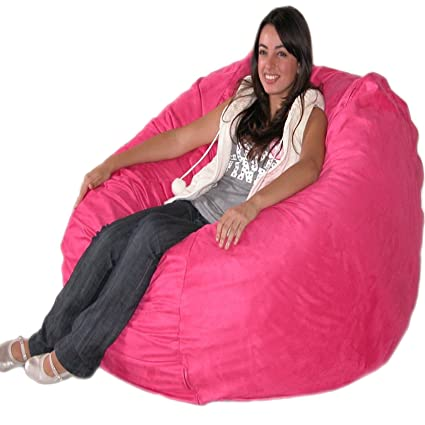 Cozy Sack 4 Feet Bean Bag Chair, Large, Hot Pink