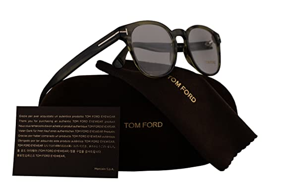 80a354ef8a3 Tom Ford FT5400 Eyeglasses 48-19-145 Dark Green w Demo Clear Lens 098  TF5400  Amazon.co.uk  Clothing