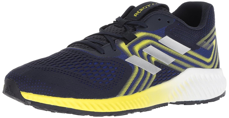 adidas Men's Aerobounce 2 Running Shoe B077XJ135H 8 D(M) US|Mystery Ink/Silver Metallic/Shock Yellow
