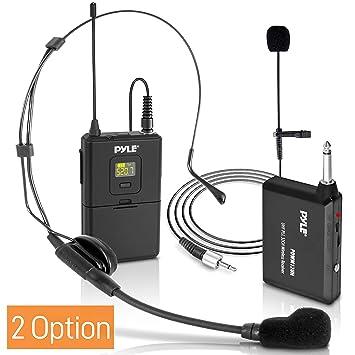 Pyle UHF - Micrófono inalámbrico de 32 Canales con Auriculares y ...
