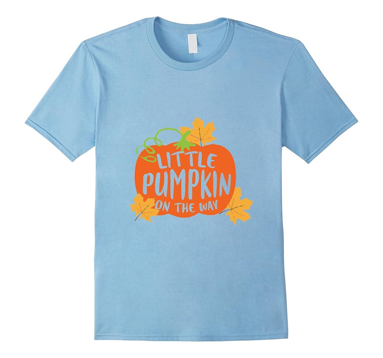 de2adb571c3d9 Little Pumpkin On The Way Pregnancy Maternity Halloween Tees-FL ...