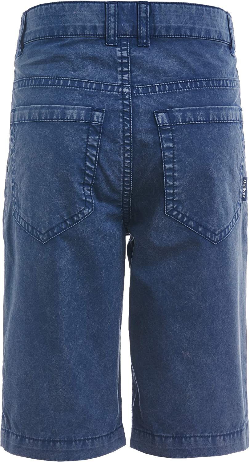 GULLIVER Boy Denim Shorts Casual Pockets for 2-7 Years Regular Fit Zip Button Stone Wash Colour Blue Denim Knee-Lenght Cotton