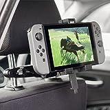 Olixar Nintendo Switch Car Mount - Headrest Holder - 360 Degree Rotation - Case Compatible