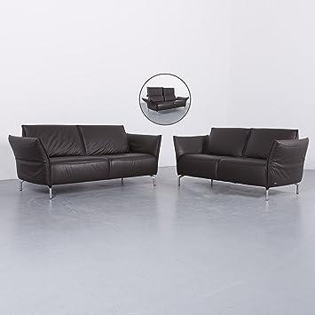 Koinor Vanda Leder Sofa Garnitur Braun Dreisitzer Couch Echtleder