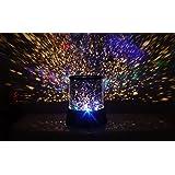 Media Wave Store - Star Master - Lampe de chevet/projecteur d'étoiles LED - Effet ciel étoilé -