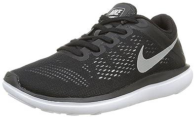 low priced b48a8 04d37 Nike Jungen Flex Run GS Laufschuhe, Schwarz (Black/Whiteblack/White),