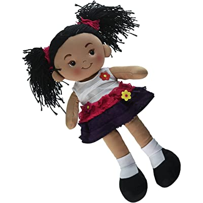 Linzy Toys Aissa Handmade Fabric Rag Doll with Pink Dress 16 Inch: Toys & Games