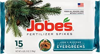 product image for Jobes 01611 Evergreen Fertilizer Spikes 13-3-4 15 Pack